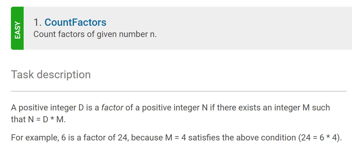 Count factors